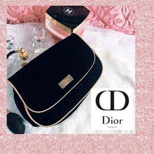 Rare Vintage Dior Velvet Makeup Bag